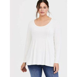 Women's Plus Super Soft Fit Flare Long Sleeve Tee